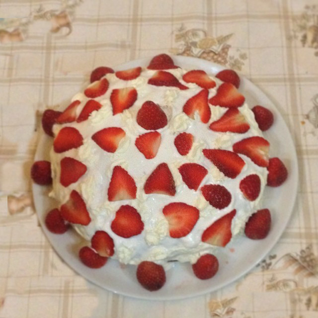 tarta de fresas sola