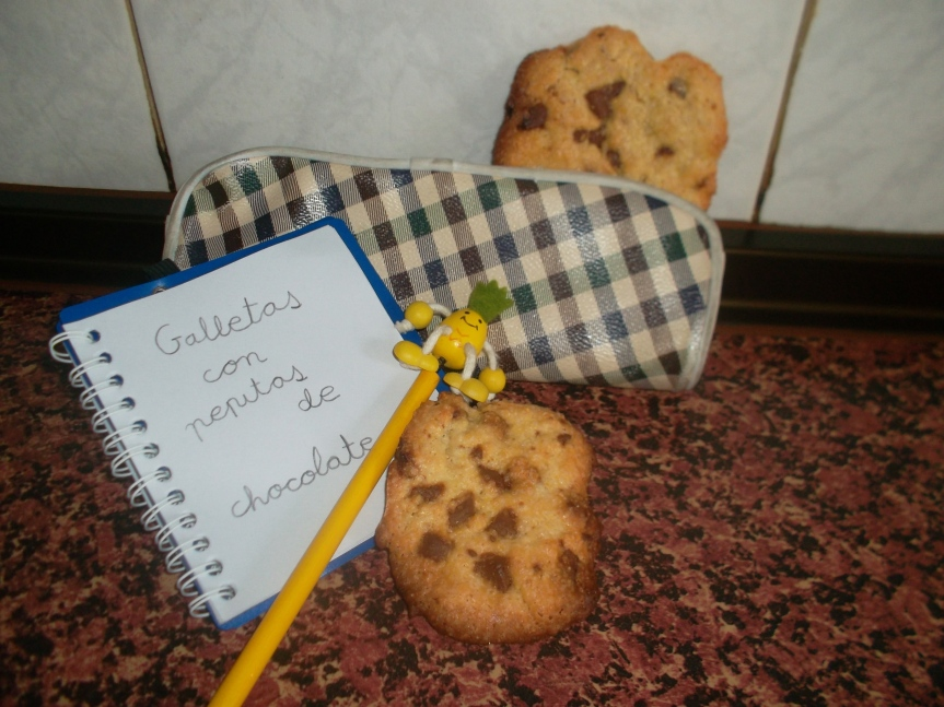 Galletas caseras con pepitas de chocolate